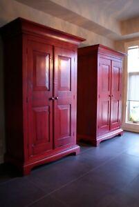 Rustic Wood Farmhouse Armoire / Bookshelf. LIKEN woodworks