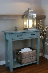 Rustic Solid Wood French Antique Hall or Console Table. By LIKEN Woodworks