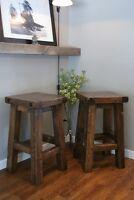 LIKEN Woodworks: Provencal Bar Stool, All solid Wood!