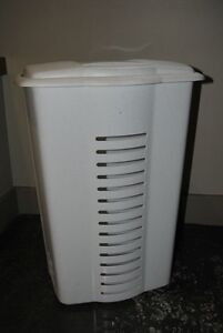 Laundry Hamper with Lid,white