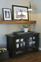 French Antique Collection: Solid wood glass doors buffet & more!