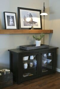French Antique Collection: Solid Wood Glass Doors Buffet and More!