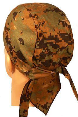 Green Digital Marpat Camo Camouflage Sweatband Headwrap Doo Rag American Made US