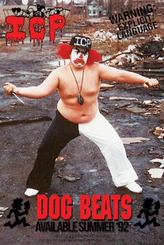 INSANE CLOWN POSSE - DOG BEATS POSTER 24x36 - ICP MUSIC 9293 *PRESALE*