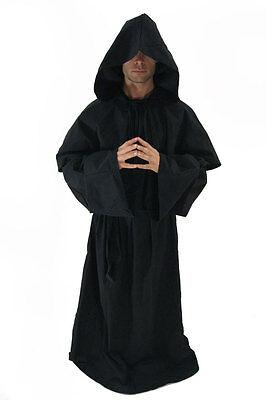 Kostüm Mönch Mönchskutte Henker Tod Kloster Robe Kutte Kapuze Halloween NEU (Henkers Kapuze Kostüm)
