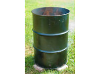 ## LARGE STEEL DRUMS MADE INTO OUTSIDE BURN BINS TO DISPOSE OF PERSONAL DOCUMENTS SECURELY ##