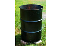## LARGE 200L STEEL DRUMS MADE INTO OUTSIDE BURN BINS TO DISPOSE OF PERSONAL DOCUMENTS SECURELY ##