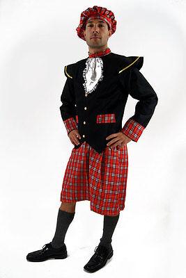 Kostüm SCHOTTE Kilt Braveheart HIGHLANDER Herren Rock Scots Rob Roy Plaid Gr. 48
