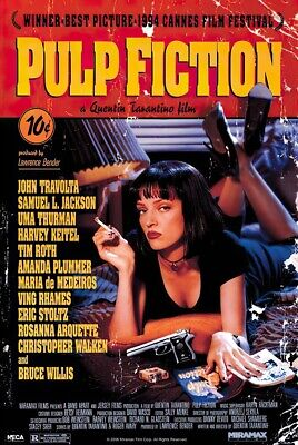 PULP FICTION - MOVIE POSTER (REGULAR - MIA WALLACE ON BED) (SIZE: 24