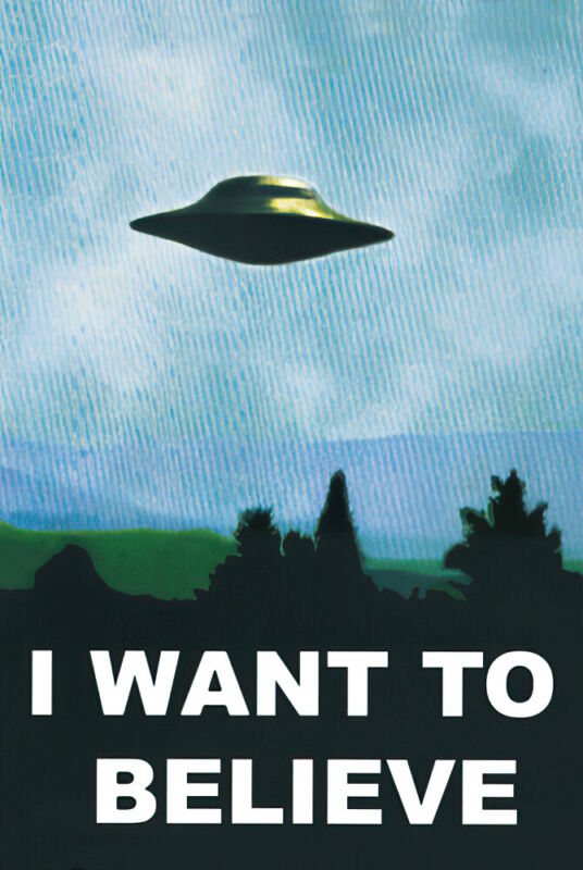 "X-FILES - I WANT TO BELIEVE - TV SHOW POSTER / PRINT (UFO) (SIZE: 24"" X 36"")"