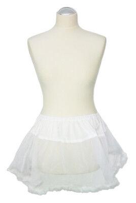 Petticoat Rock weiß mit Federn Tüllrock Damen zum Kostüm Engel Braut - Weiße Feder Rock Kostüm