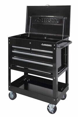 33 in 4 Drawer Mechanics Tool Box Utility Cart Smooth Drawer