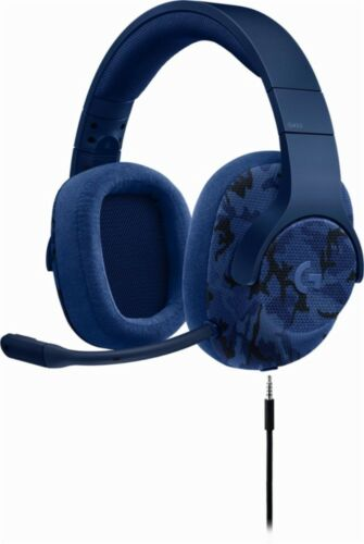Logitech G433 Wired 7.1 Gaming Headset for PC, Mac, Nintendo Switch, PS4, Xbox One Blue camo 981-000682