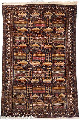 187x120cm originell old Afghan War rug Kriegteppich Afghanistan orientteppich 10
