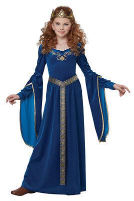 Girls Royal Blue Medieval Princess Halloween Costume - Royal Blue Halloween Costumes
