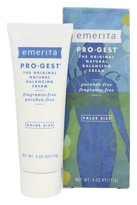 Emerita Pro-Gest Original Natural Progesterone Cream Fragrance-Free, 4 (Original Natural Progesterone Cream)