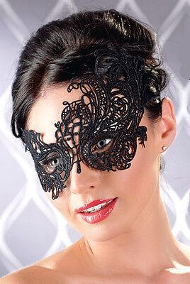 Filigrane Augenmaske Schwarz Sexy Maske Maskenball Masquerade  Accessoire Kostüm