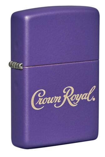 Zippo Purple Matte Windproof Lighter, Crown Royal Whiskey Logo, 49460 New In Box
