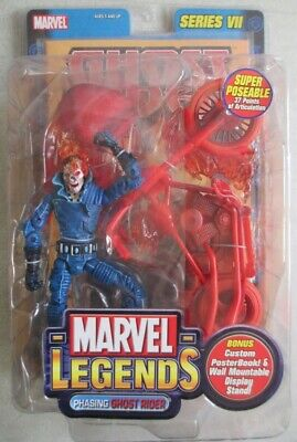 Marvel Legends Phasing Ghost Rider Variant Super Poseable Series 7 Motorcycle