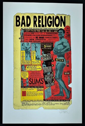 Bad Religion POSTER Fabulous Disaster Firehouse Silkscreen Signed Chuck Sperry