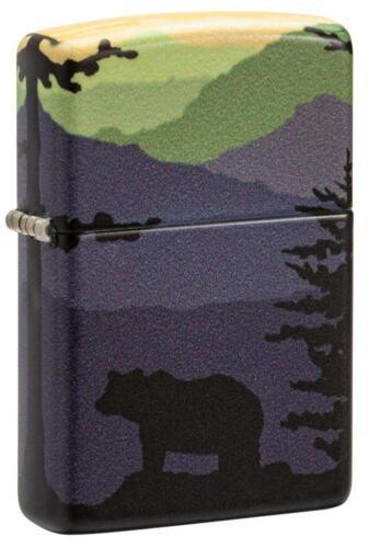 Zippo Windproof Bear & Tree Landscape 360 Degree Lighter, 49482, New In Box