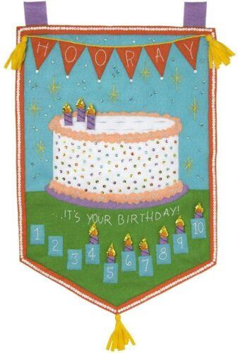 Bucilla Felt Applique Happy Birthday Banner - Sealed