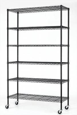 82x48x18 6 Tier Layer Shelf Adjustable Steel Wire Metal Shelving Rack 76