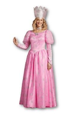The Wizard Of Oz Glinda Good Fairy Witch Gown Pink Dress Adult Costume SM 4-6 - Glinda The Good Witch Dress