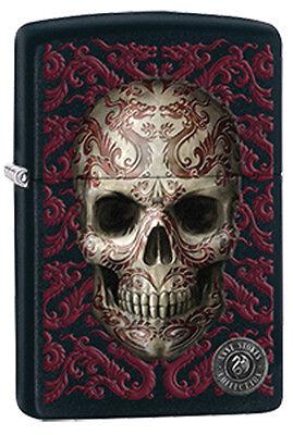 Tattooed Skull by Anne Stokes Artist Black Matte Zippo Lighter