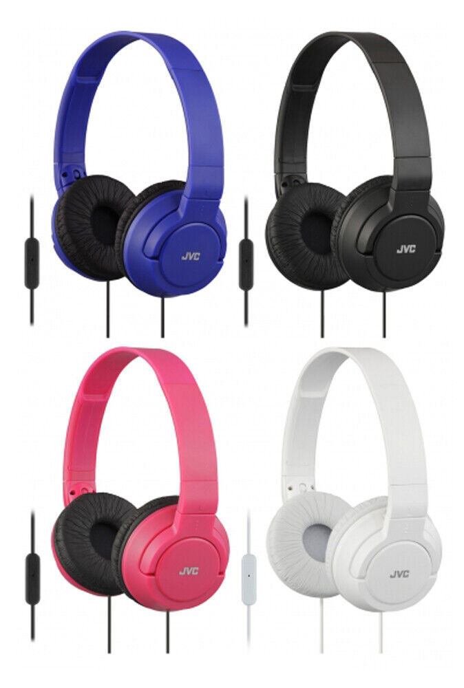 JVC Lightweight Powerful Bass Foldable Headphones with In-Li