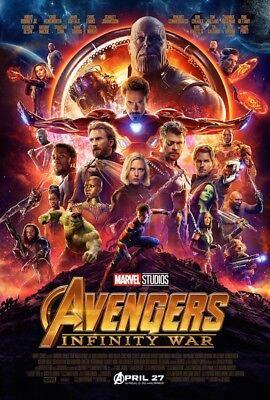 AVENGERS INFINITY WAR Disney Marvel Studios movie poster 24x36 US Final Version