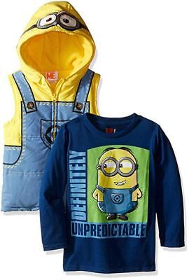 Despicable Me Toddler Boys Costume Puffer Vest & Top Set Size 2T 3T 4T - Toddler Despicable Me Costume