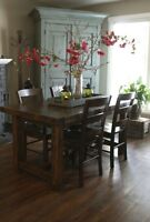 Provencal Dining Table, All Solid Wood, 3 Sizes & More! by LIKEN