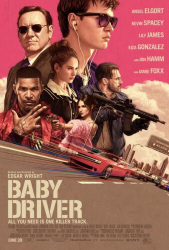 SIGNED BABY DRIVER 27 X 40 ORIGINAL 2017 MOVIE POSTER MONDO RORY KURTZ ART