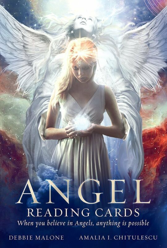 ANGEL READING CARDS 36 Angels Deck Illustrated 96 Page Guidebook Set Malone
