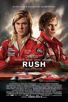 Rush Movie Poster Chris Hemsworth  Daniel Bruhl   11 X 17 Inches  A  James Hunt