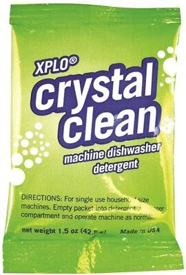 Crystal Clean Dishwasher Detergent 1.5 oz Single Portion Packets 10 ct by Xplo