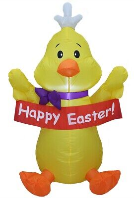 Easter Inflatable Decoration, Outdoor Holiday Inflatable Happy Easter Chick (Easter Inflatable Yard Decorations)