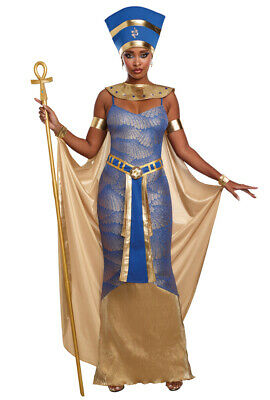 Dreamgirl gold purple Nefertiti ladies gown costume - Nefertiti Costumes