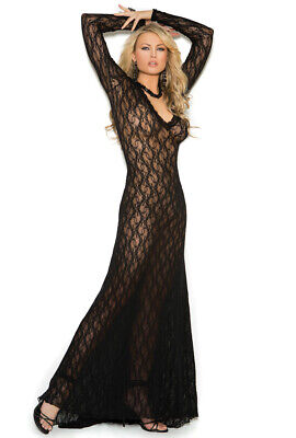 Elegant Moments long sleeve lace black gown Long Sleeve Lace Dress
