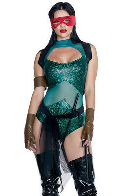 Forplay womens green Ninja Turtle romper costume](Ladies Ninja Turtle Costume)