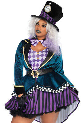 Plus size Leg Avenue Mad hatter velvet - Leg Avenue Mad Hatter Kostüm
