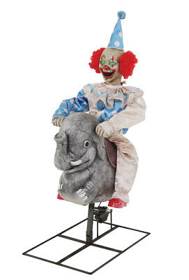 Pre-Order ANIMATED ROCKING ELEPHANT CLOWN Halloween Prop New for 2019 FREE GIFT (Animated Halloween Prop)