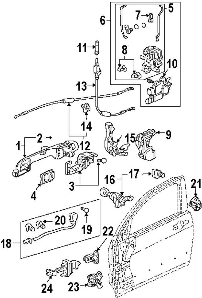 Honda 72115 Sda A01 Door Lock Motor Door Lock Actuator Motor On
