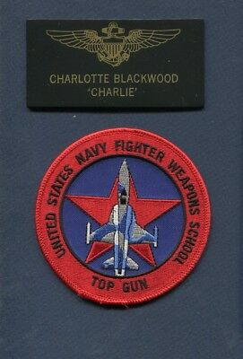 CHARLOTTE CHARLIE BLACKWOOD TOP GUN MOVIE SQUADRON Halloween Costume Patch Set 5 (Charlie Top Gun)