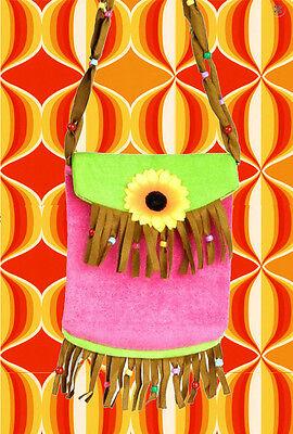 Sonnenblume-tasche (A213✪ 60er 70er Jahre Sonnenblume Tasche Festival Hippie Fransen Flower Power)