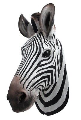 Used, Savannah Stripe Zebra Head Bust Hanging Wall Mount Home Decor Statue Collectible for sale  Edmond