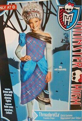 eaderella Frankie Stein Costume Girls Small 4-6 Halloween (Girls Monster High Frankie Stein Kostüm)