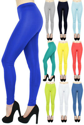Einfarbige Leggings Damen Basic Leggings Fitnesshose Uni-Farben - GR011 Basic Leggings
