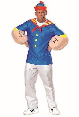 Seemann Kostüm blau Herren Comic Held Matrose Kapitän Cosplay Karneval Fasching